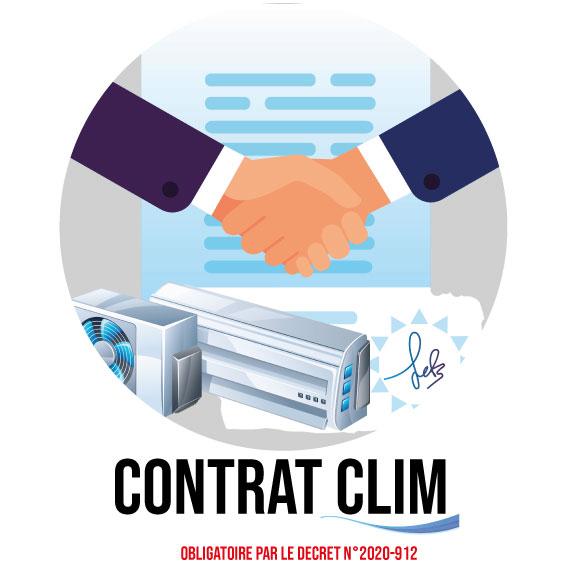 Contrat d'entretien et de maintenance pour la climDessin montrant le contrat pour les climatiseurs de la société SAFC