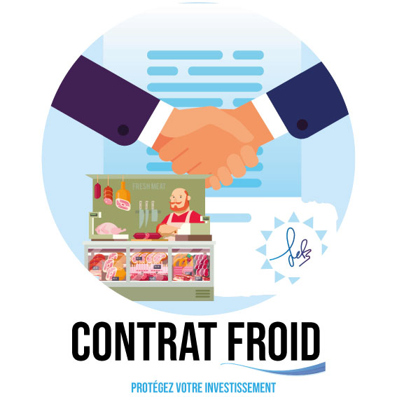 Contrat d'entretien et de maintenance pour la climDessin montrant le contrat pour les équipements frigorifiques de la société SAFC