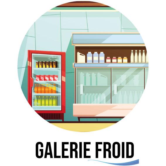 Dessin de la galerie de toutes les installations frigorifiques de la société SAFC