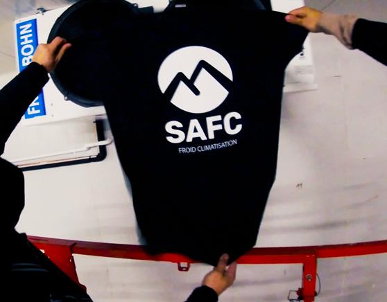 T-shirt d'une société de climatisation SAFC